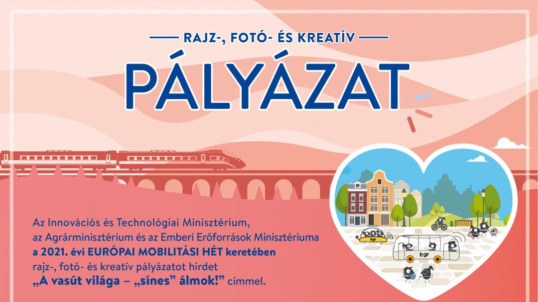 """A vasút világa – """"sínes"""" álmok! – az Európai Mobilitási Hét pályázata"""